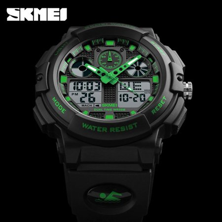 c78b5b6a790 SKMEI 1270 Dual Display Digital Waterproof Men Sports Watches With Backlit  For Men   Boys Holiday ...