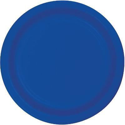 Creative Converting Cobalt Blue Dessert Plates, 24 ct Cobalt Blue Luncheon Plate