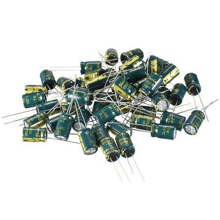 Aluminum Radial Electrolytic Capacitor 1000uF 10V Life 8 x 12mm 50pcs