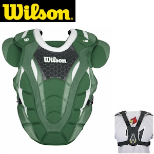 Wilson ProMOTION Baseball Chest Protector - 18in Adult - Green