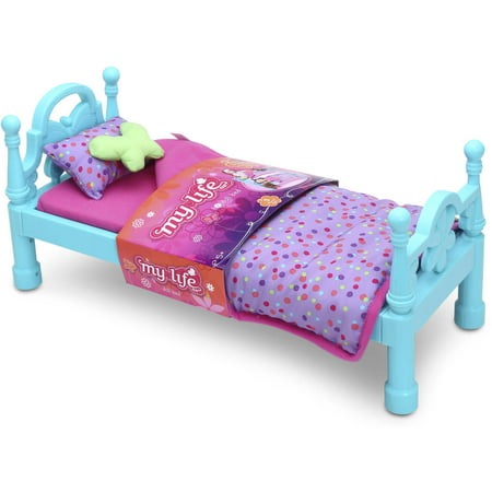 My life as bed with bedding 18 doll pink for Average life of a mattress