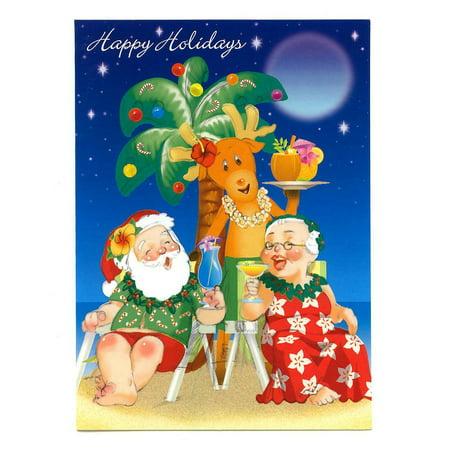 Happy Hour Invite (Holiday Happy Hour Hawaiian Christmas Cards Box of)