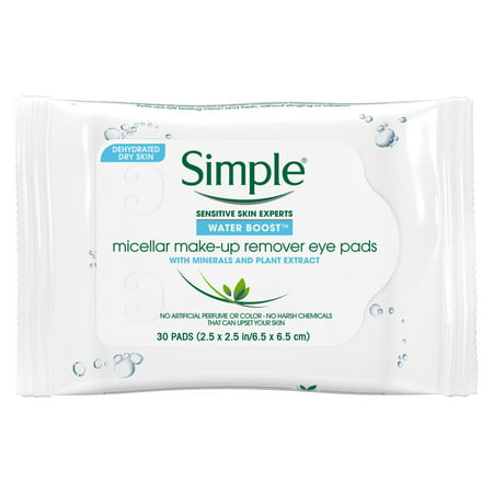 Simple Water Boost Micellar Make-up Remover Eye Pads 30 ct - Simple Pretty Halloween Eye Makeup