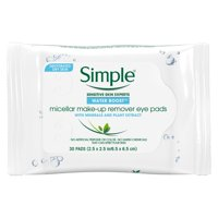 Simple Water Boost Micellar Make-up Remover Eye Pads 30 ct
