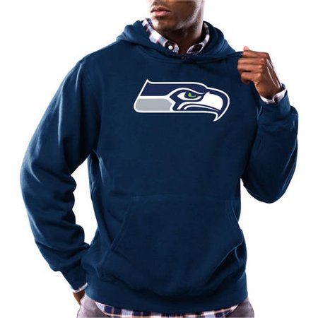 NFL Big Mens Seattle Seahawks Tek Patch Fleece Hoodie by