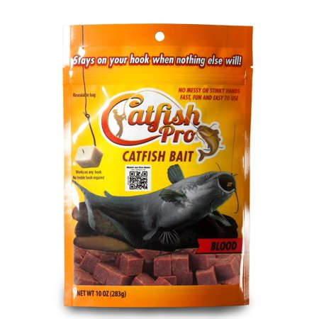 Catfish Pro Blood Catfish Bait Stays On Your Hook When Nothing Else Will