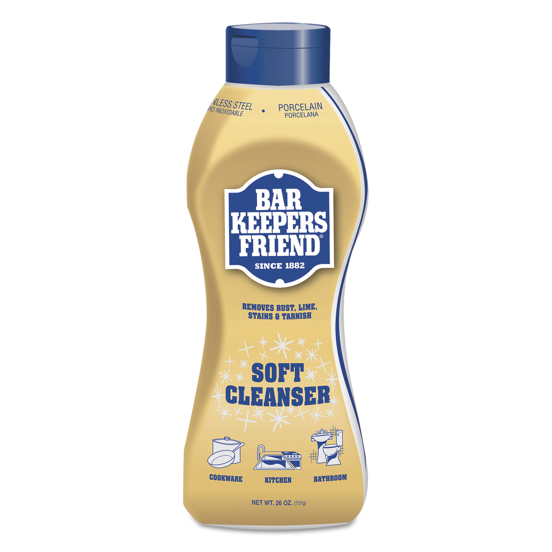 Bar Keepers Friend 11637 Kitchen/Bathroom Cleaner, 26 oz,...
