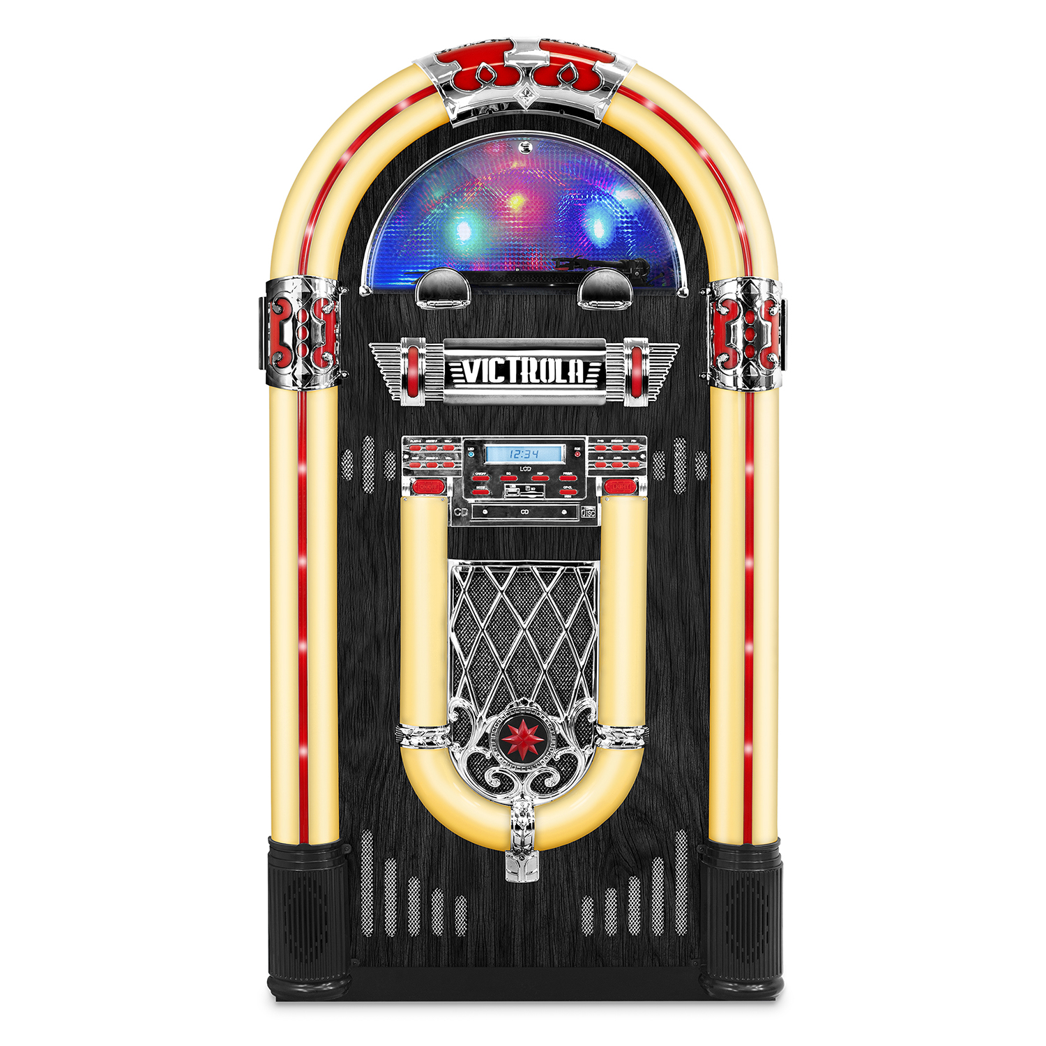 "Victrola Nostalgic Wood 51"" Full-size Bluetooth Jukebox with Record Player and 3-Speed Turntable by Victrola"