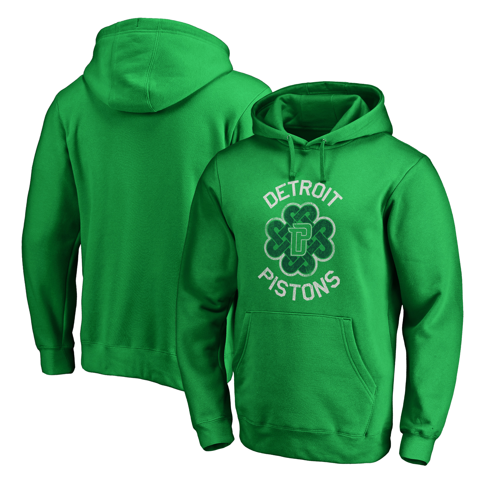 Detroit Pistons Fanatics Branded St. Patrick's Day Luck Tradition Pullover Hoodie - Kelly Green