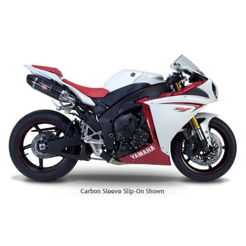 Yoshimura R-77 Exhaust System Carbon Muffler/Carbon End Cap Fits 09-10 Yamaha YZF R1