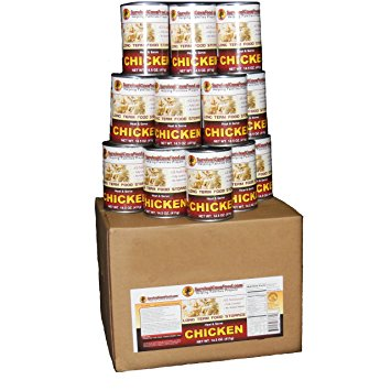 Survival Cave - Canned Chicken 14.5 oz - 12 can
