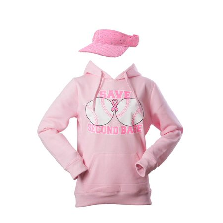 Breast Cancer Awareness Kit - Save Second Base Hoodie + Visor - 2X-Large - image 1 de 1