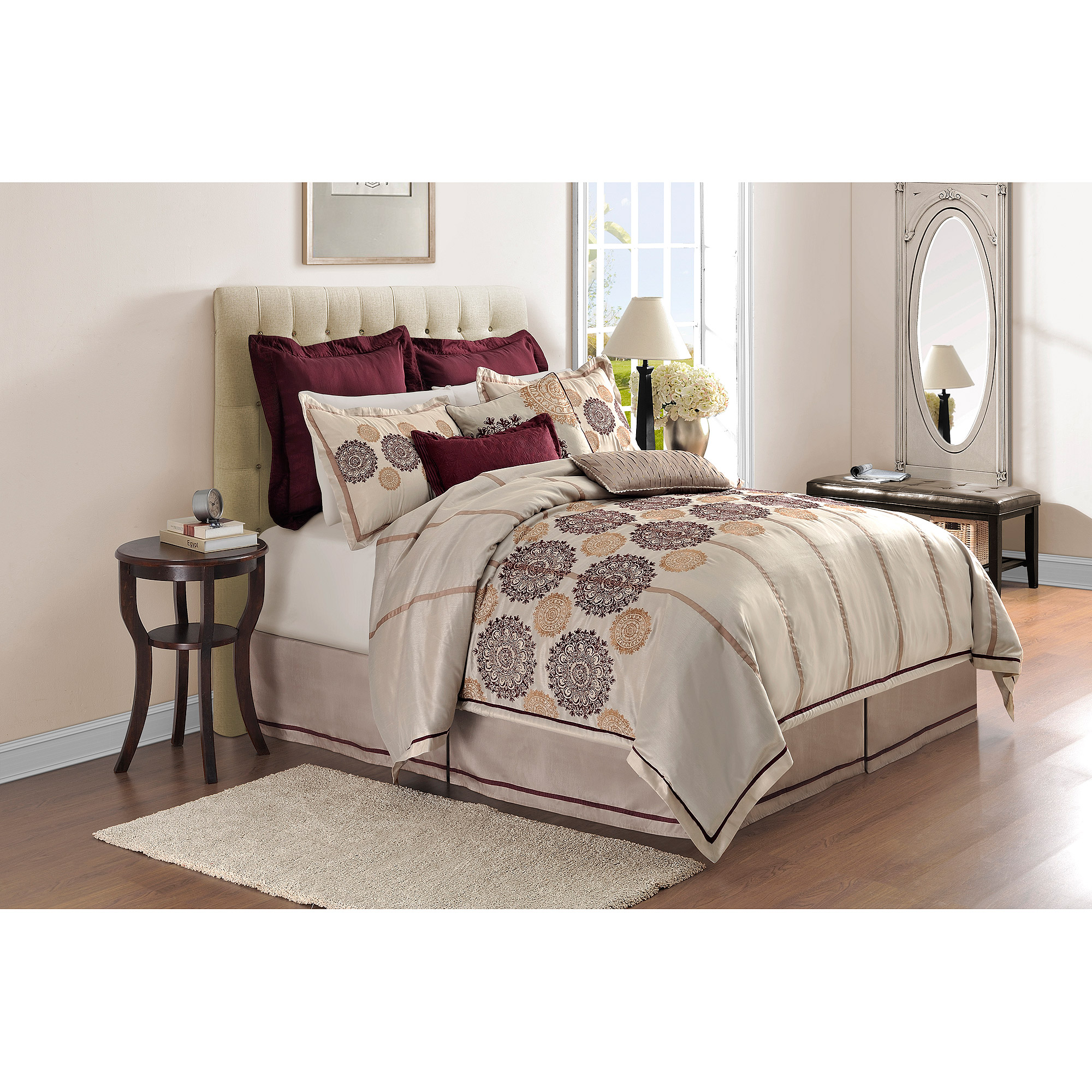 Image of Adorn Home Colette 4-Piece Bedding Comforter Set