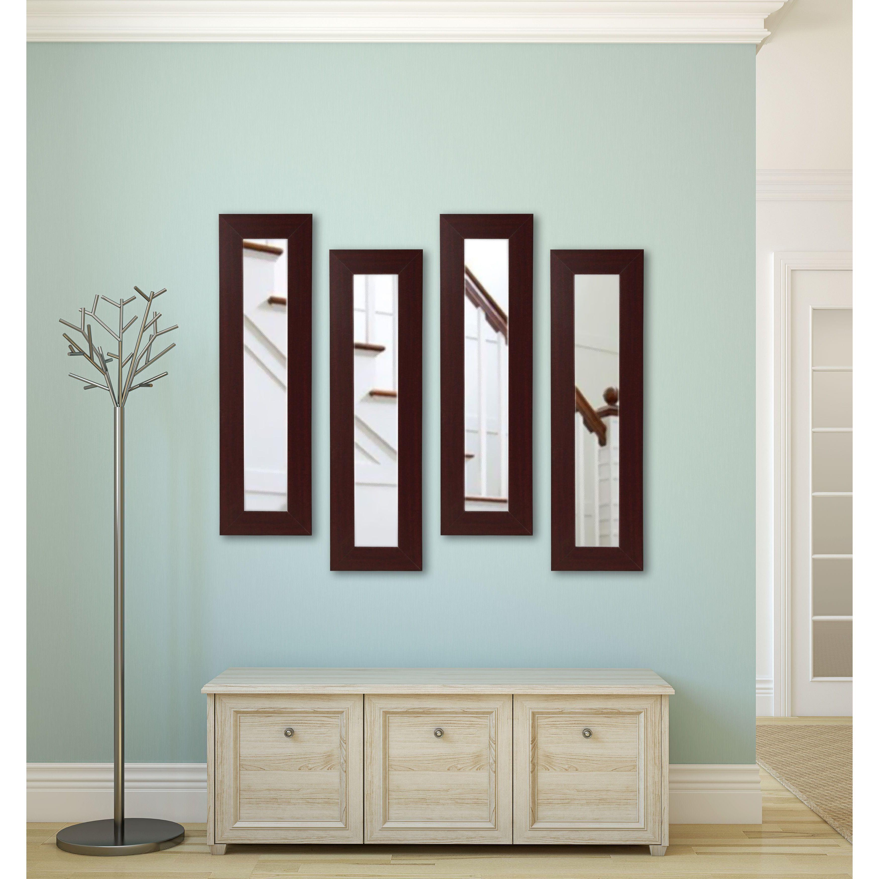 Rayne Mirrors American Made Dark Mahogany Panel Mirror - Dark Mahogany