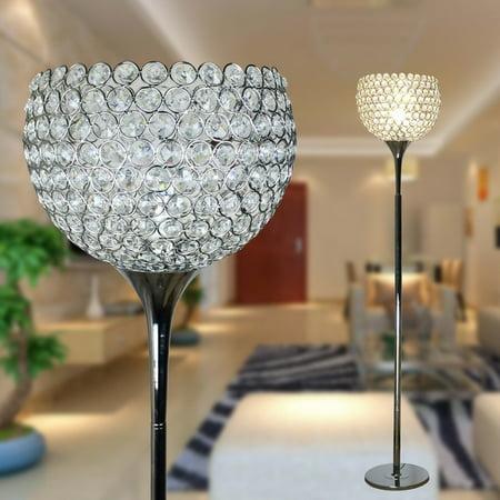 Surpars House Ball Shape Crystal Floor Lamp,Silver ()