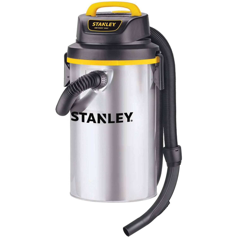 Stanley 4.5-gallon, 4.5-peak horse power, Stainless Steel Hangup wet dry vacuum