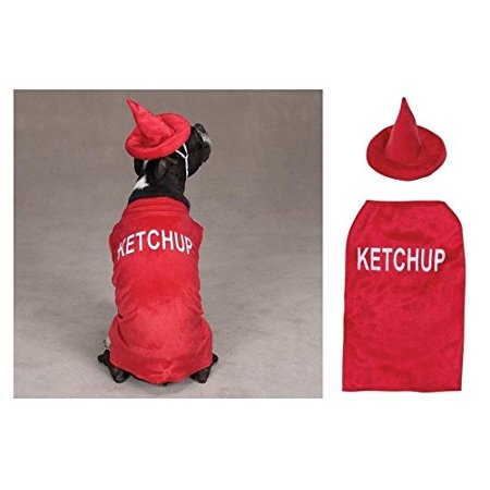 Ketchup Bottle Costumes for Dogs - Large Food Themed Dog Costume ! for $<!---->