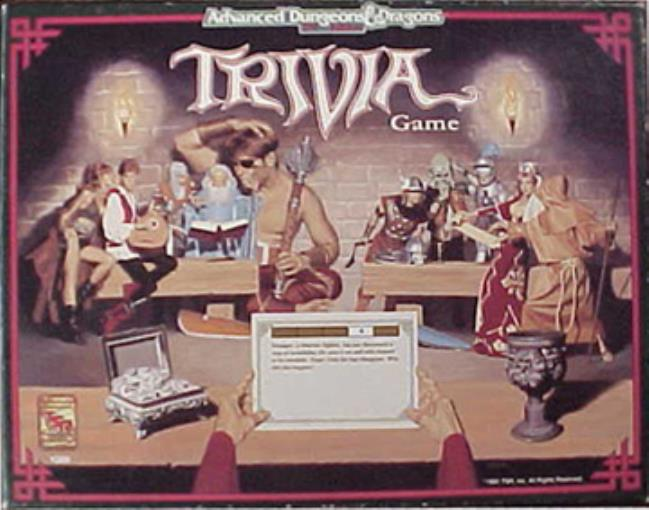 AD&D 2nd Edition Trivia Game Lightly Used by TSR