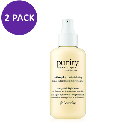 Philosophy Purity Made Simple Ultra Light Moisturizer 4.7 oz (2 PACK)