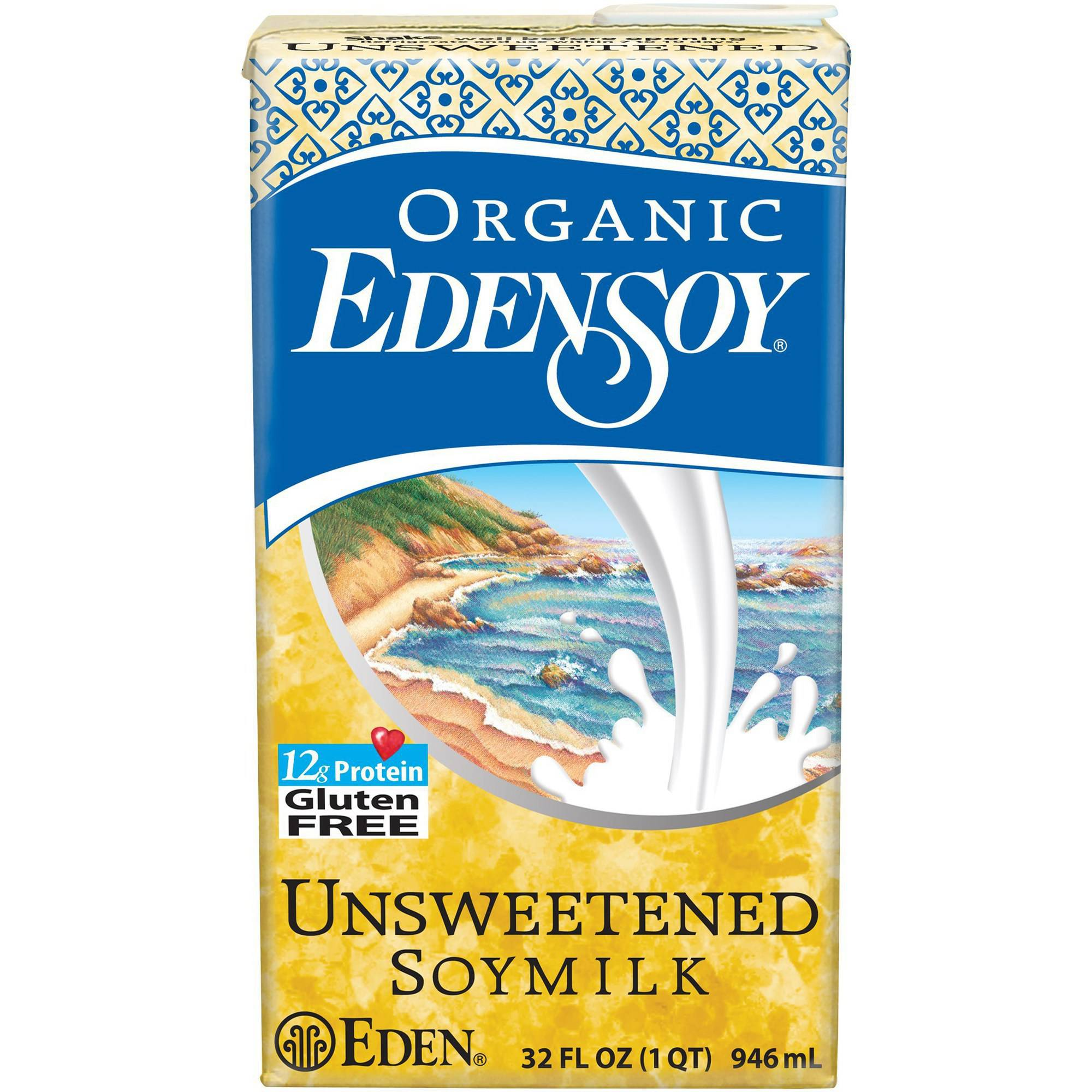 Eden Unsweetened Edensoy, Organic, 32 Ounce (Pack of 6) by