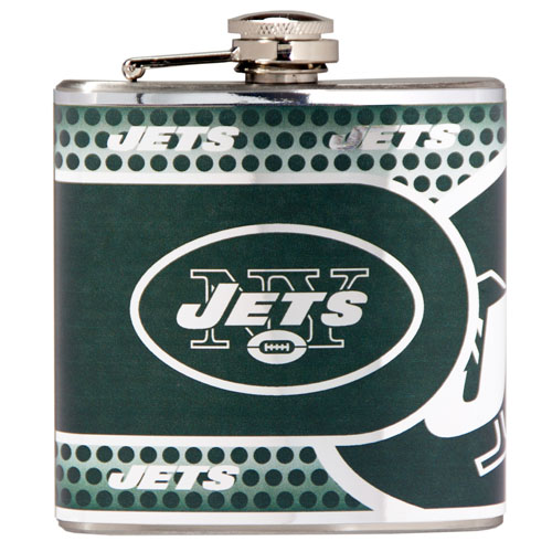 Great American Products New York Jets Flask Stainless Steel 6 oz. Flask