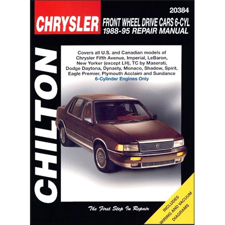 Chrysler Front-Wheel Drive Cars, 6 Cylinder, (Best Way To Learn To Drive Manual)