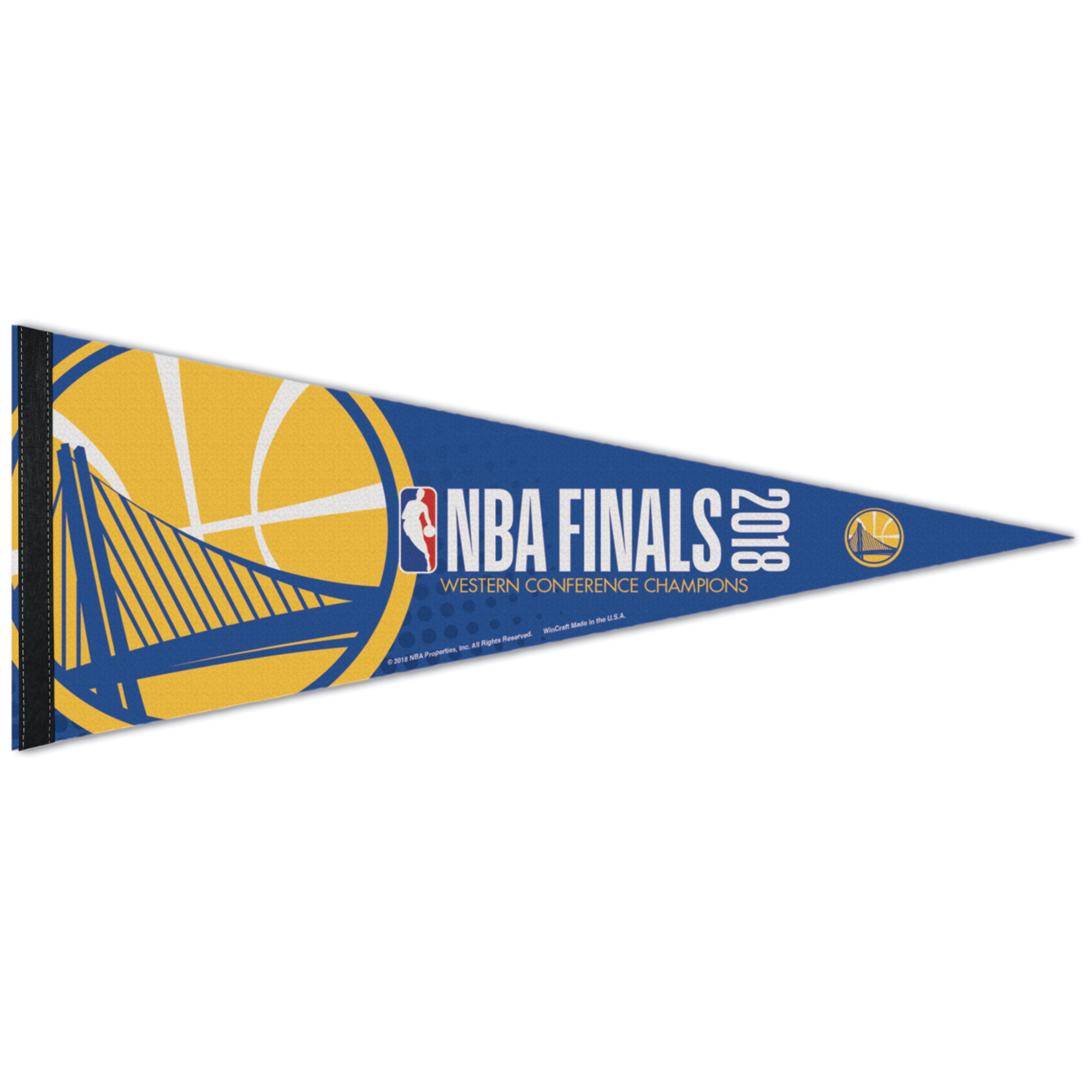 """Golden State Warriors WinCraft 2018 Western Conference Champions 12"""" x 30"""" Premium Pennant - No Size"""