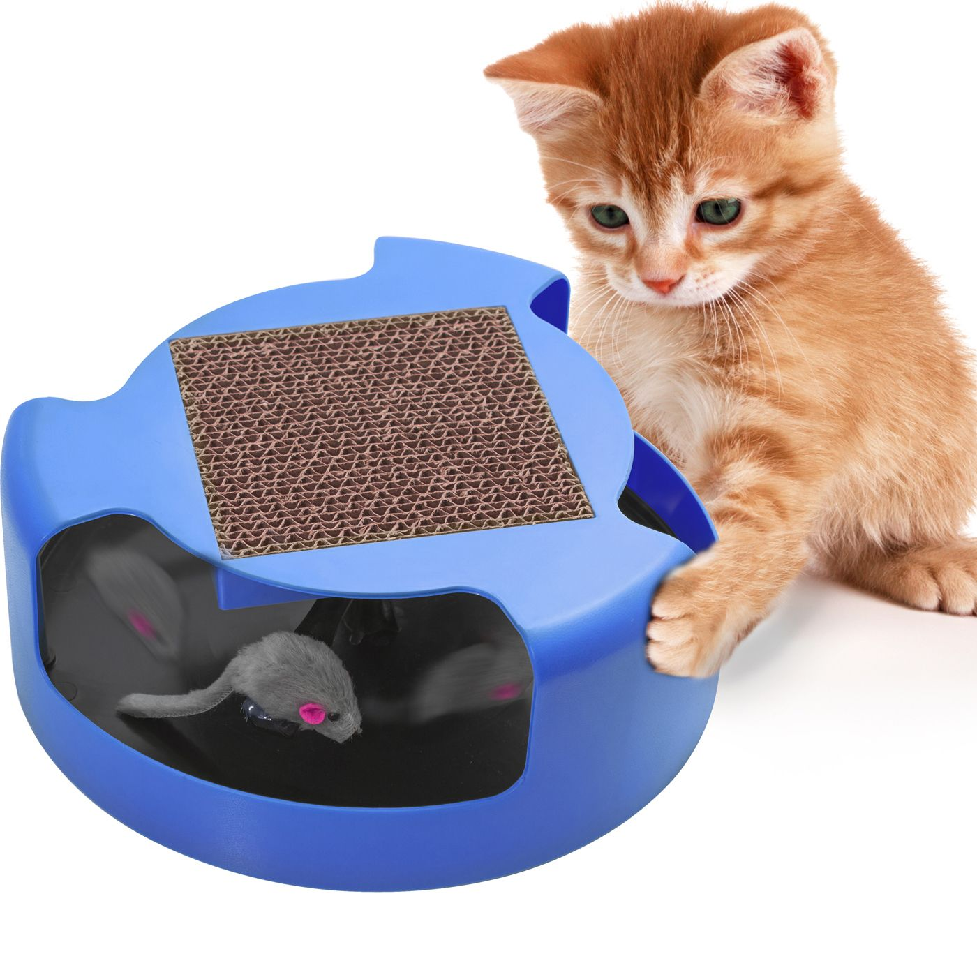 Cat Mouse Play Toy with Scratching Post by Oxgord