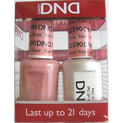 DND Nail Polish Gel & Matching Lacquer Set (590 - Rose (Gel Rose)