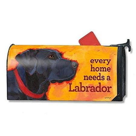 Magnet Works Mailwraps Black Lab Dog Original Magnetic Mailbox Wrap Cover