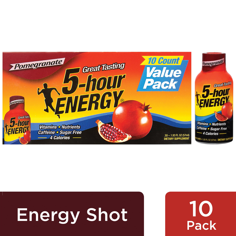 5-Hour Energy Shot, Pomegranate, 1.93 Fl Oz, 10 Ct