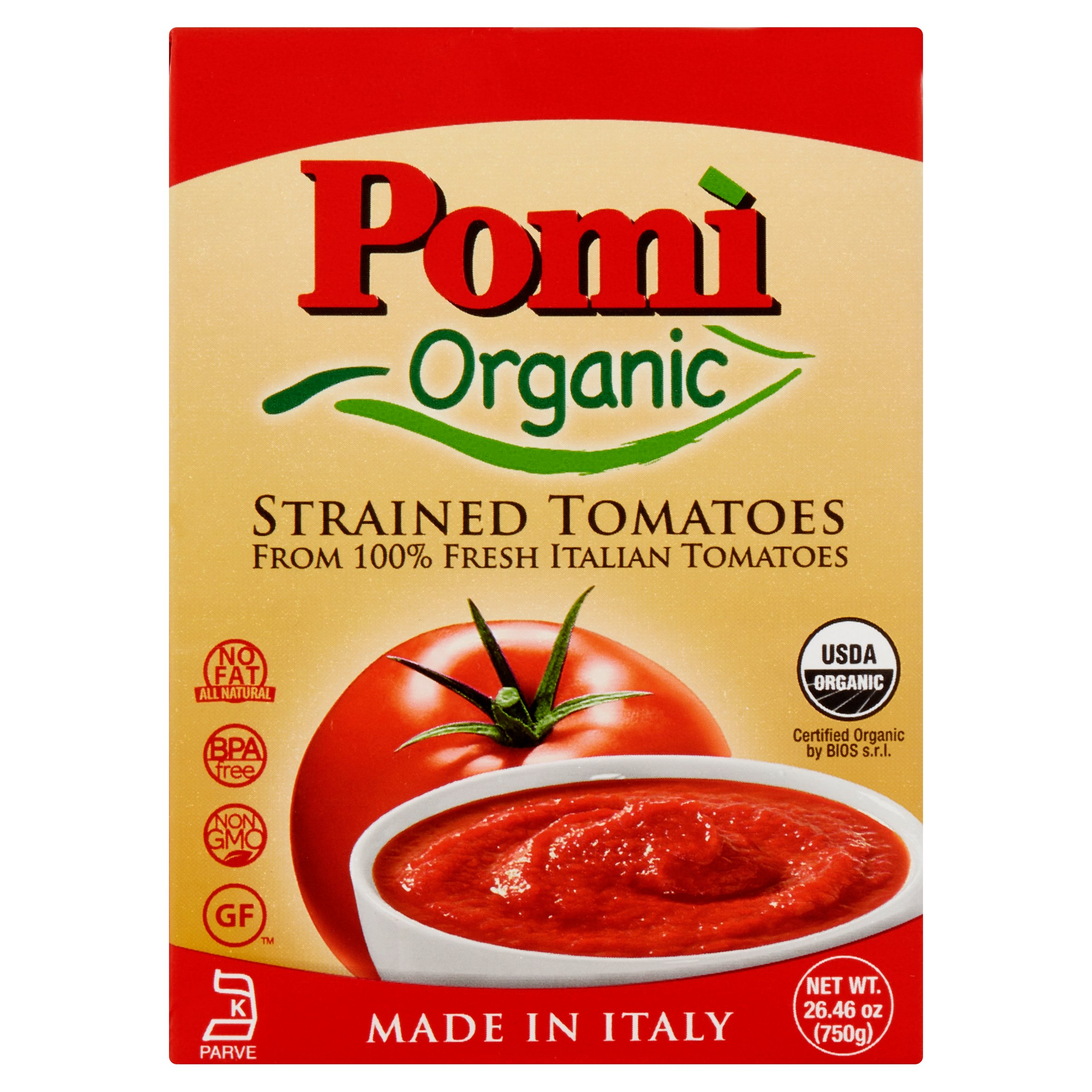 Pomi Tomatoes Strained Org,26.46 Oz (Pack Of 12)
