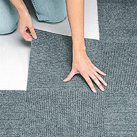 Peel Amp Stick Berber Carpet Tiles Set Of 10 Gray By Jumbl