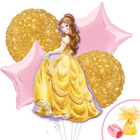 Beauty and the Beast Belle Balloon Bouquet Kit - Beauty And The Beast Party Supplies