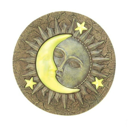 10.2 x 10.2 x 0.5 in. Sun & Moon Glowing Stepping (Moon Stepping Stone)