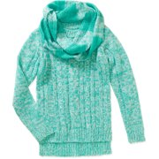 Girls Cable Sweater with Infinity Scarf