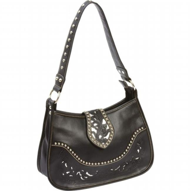 BNFUSA LUPFF09 Casual Outfitters Ladies Black Western Purse with Studded Details