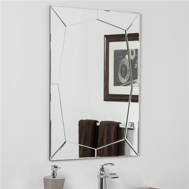 Decor Wonderland SSM4DM2 Carstadt Modern Bathroom Mirror by Decor Wonderland