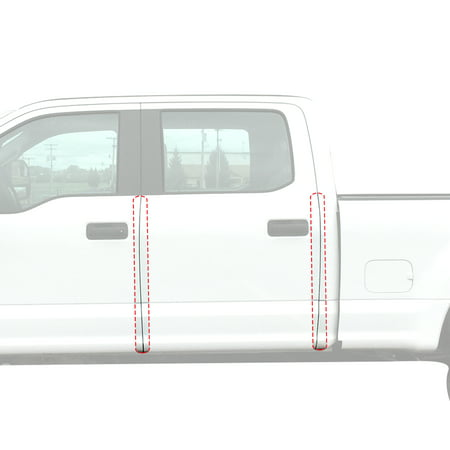 Red Hound Auto Door Edge Lip Guards Compatible with Ford F-150 F150 Crew Cab 2015 2016 2017 2018 2019 4pc 4 Door Clear Paint Protector Film Not Universal Pre-Cut Custom Fit Custom Fit Clear Film
