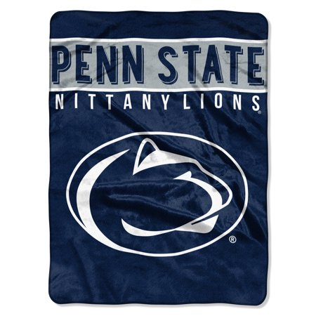 Northwest Penn State Nittany Lions NCAA Royal Plush Raschel Blanket (Basic Series) (60x80)