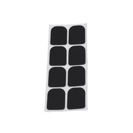 8pcs 0.8mm Black Soprano Saxophone Sax Clarinet Mouthpiece Patches Pads