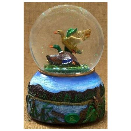 San Francisco Music Box Company - Ducks Unlimited Water Globe - 100 Millimeter Multi-Colored