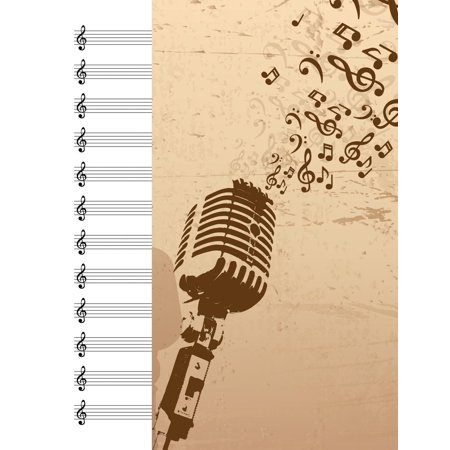 - Blank Music Sheets Notebook: Manuscript Paper Includes 12 Rows of Five Line Musical Staff with a Treble Clef for Use in Writing Music for Flute Violin Trumpet and Other Instruments (Paperback)