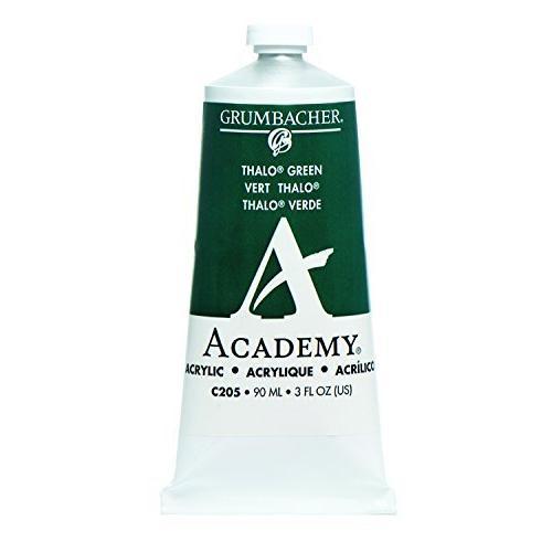 Grumbacher - Academy Acrylic - 90ml Tube - Thalo Green