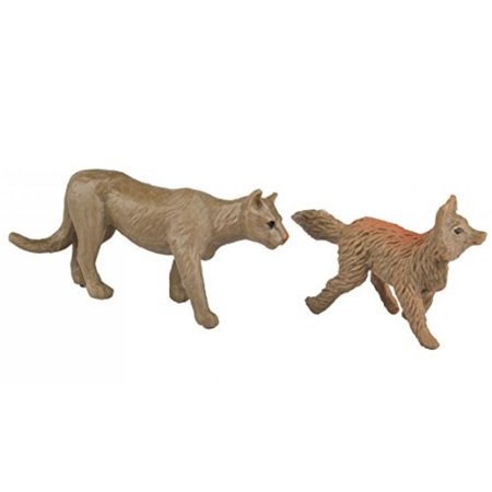 Safari Ltd Nature TOOB - Comes With 12 Different Hand Painted Animal Figurine Models - Including Gray Wolf, Moose, Raccoon, Beaver with Sticks, Rabbit, Black Bear, Cardinal, Cougar, Bald Eagle, Fox, B