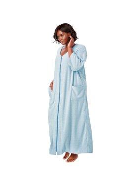 79349add8e Plus Size Soft Terry Kimono Sleeve Robe