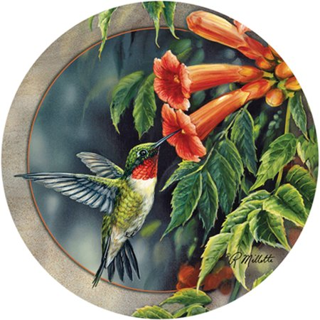 Hummingbird Coaster - Thirstystone Drink Coasters Set, Hummingbird and Trumpet Vine