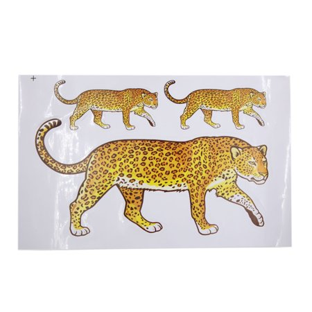 Brown Lion Pattern Car Sticker Adhesive Decal Decoration for Auto Vehicle