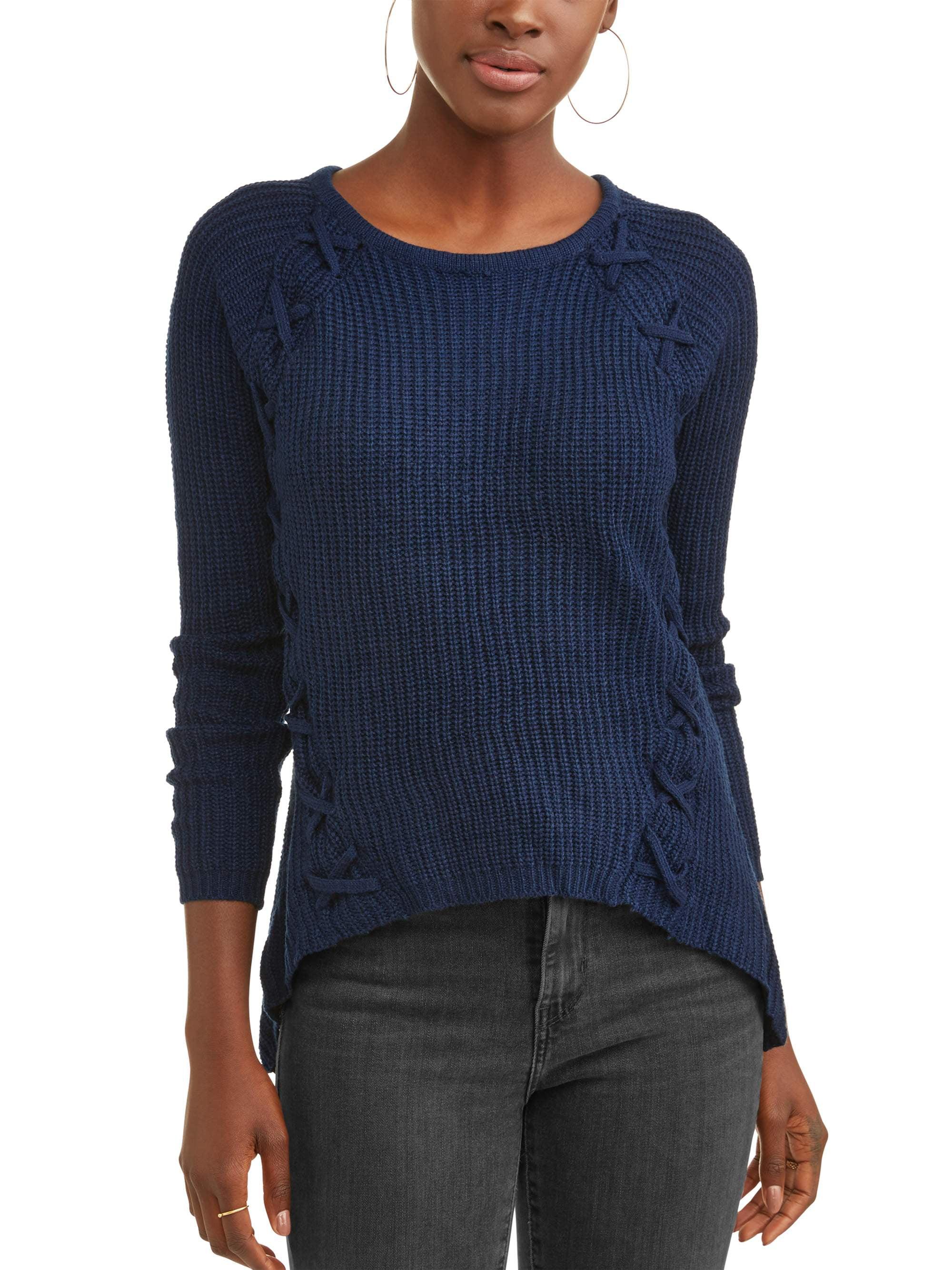Women's Lattice Detail Sweater