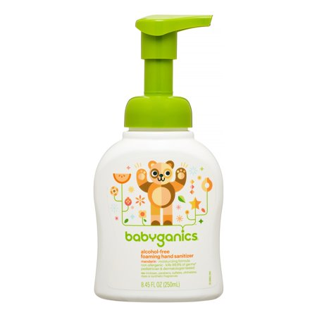 Babyganics Alcohol-Free Foaming Hand Sanitizer, Mandarin, 250 mL - Halloween Hand Sanitizer Holder